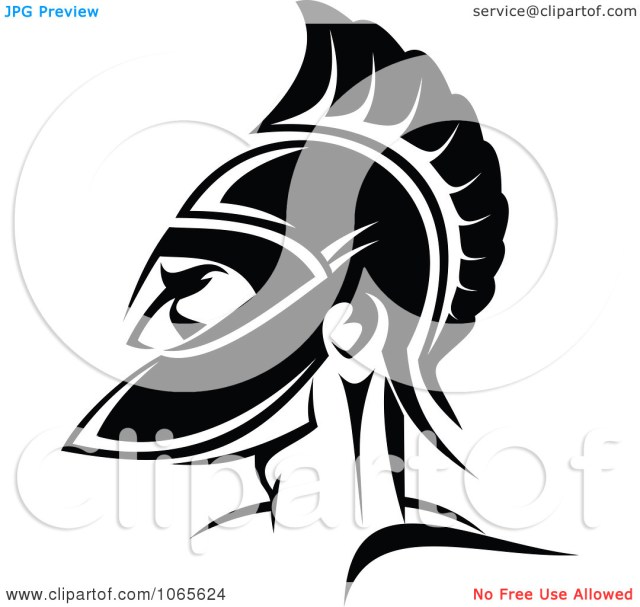 Best Ever Roman Soldier And Helmet Tattoo Design For All