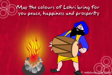 Best Wishes Happy Lohri Happiness And Prosperity Image