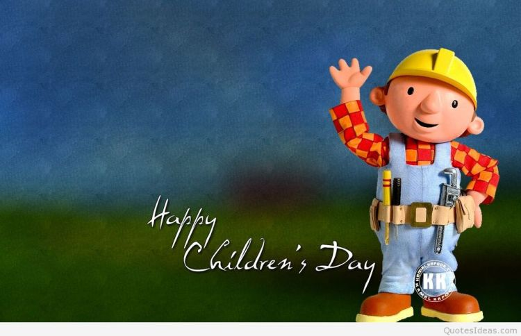 Bob The Builder Happy Children's Day Image