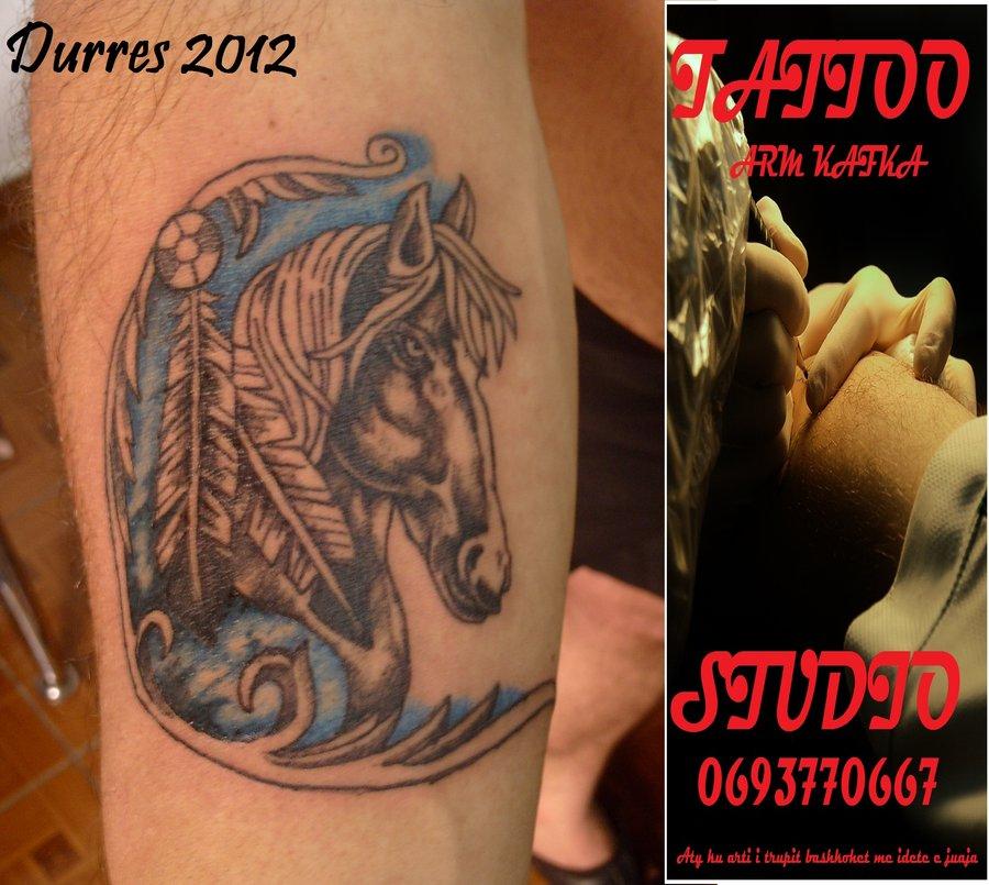 Brilliant Horse Head Tattoo Design For Boys