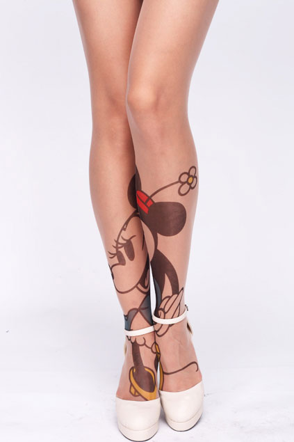 Brilliant Mickey Mouse Tattoo On Heels For Women