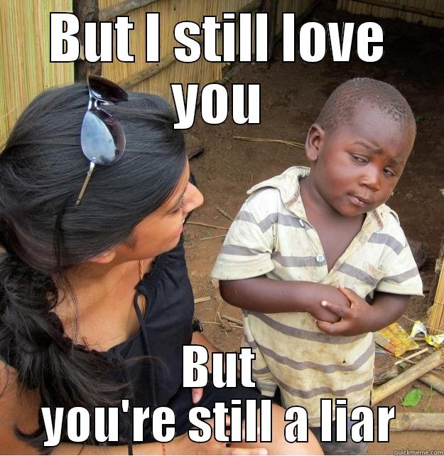 But I Still Love You but You Are Still A Liar Meme Graphic