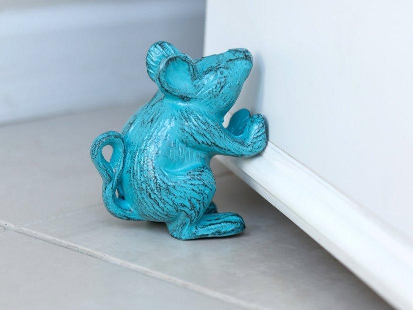 Cast Iron Mouse Decorative Door Stop 001