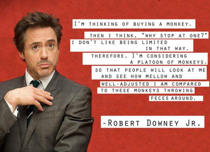 Celebrity Sayings I'm Thinking Of Buying A Monkey
