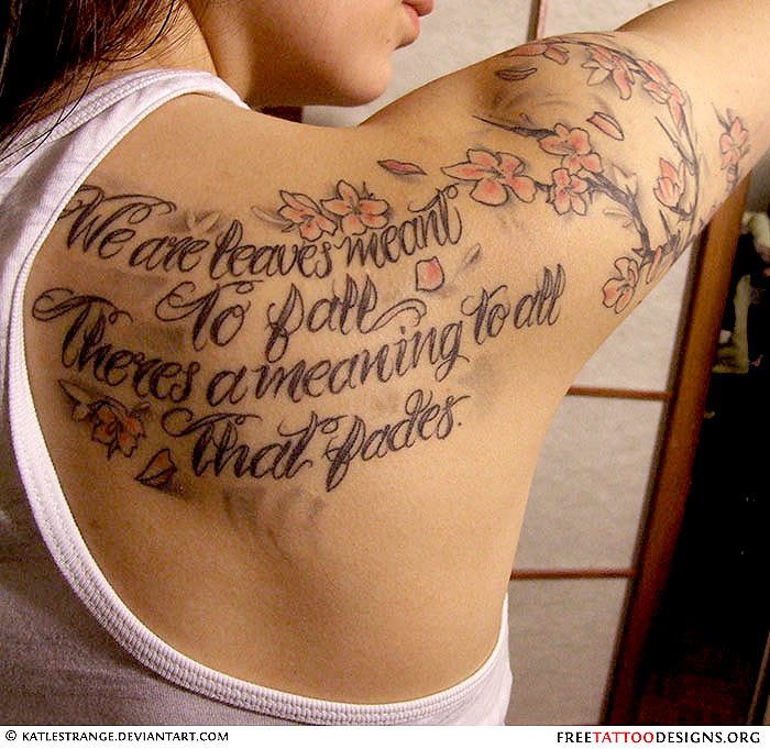 Charming Feminine Tattoo On Back Of Shoulder For Girls