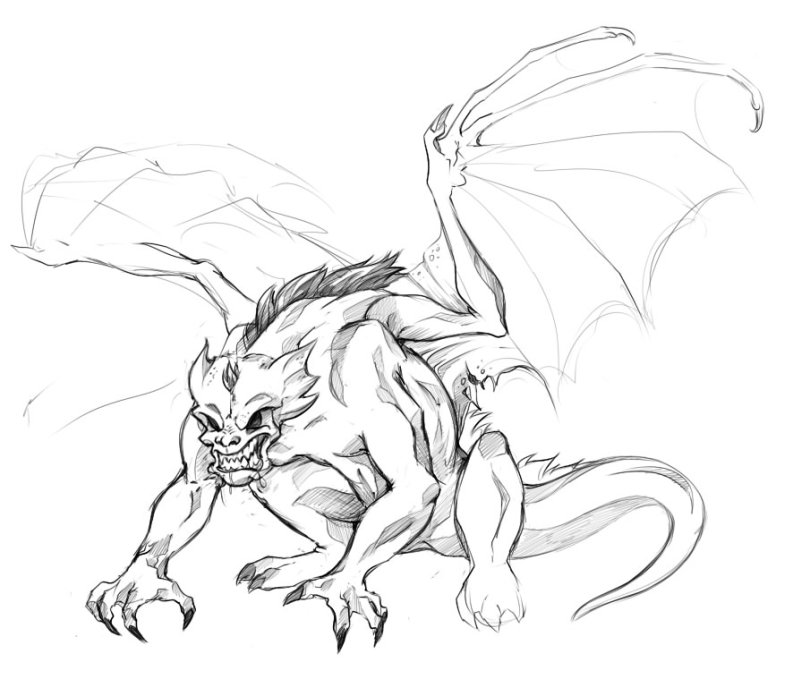 Charming Gargoyle Wip Tutorial Drawing For Boys