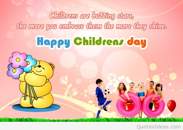 Childrens Are Budding Star Happy Childrens Day Wishes Image