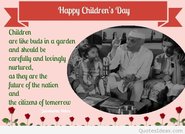 Children's Are Like A Buds In A Garden Happy Children's Day Wishes Image