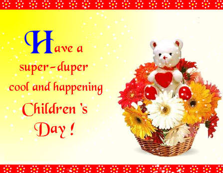 Cool And Happiness Children's Day Greetings Image
