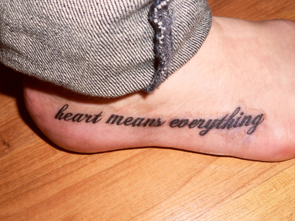 Cool Heel Tattoo For Boys