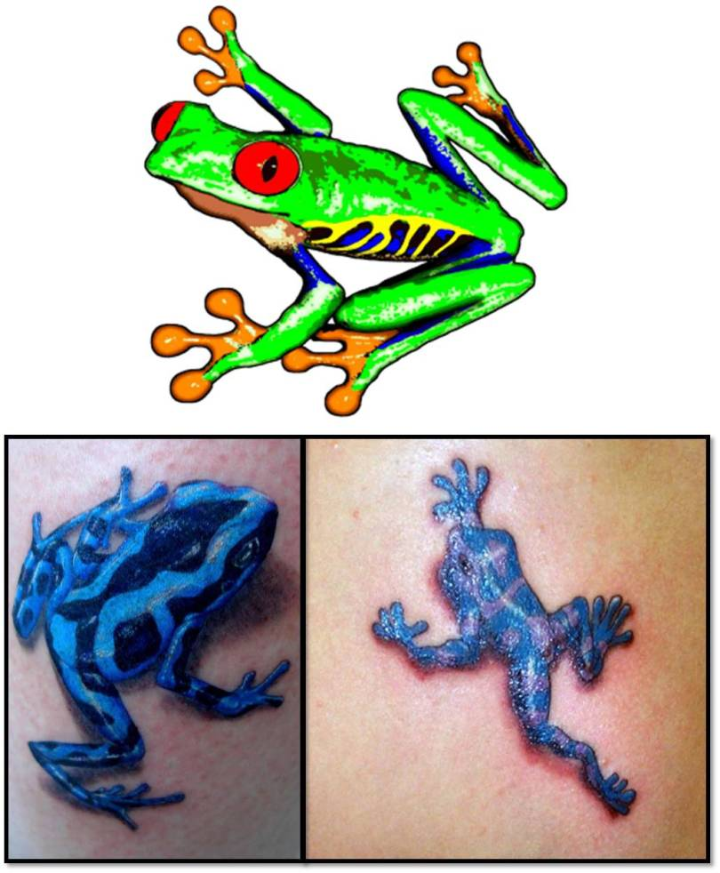 Crazy Frog Tattoo Images For Girls