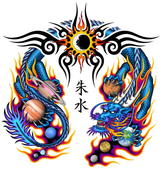 Custom Chinese Dragon Tattoo Designs For Boys