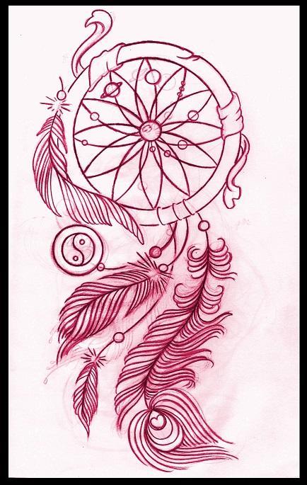 Custom Dream Catcher Tattoo For Girls