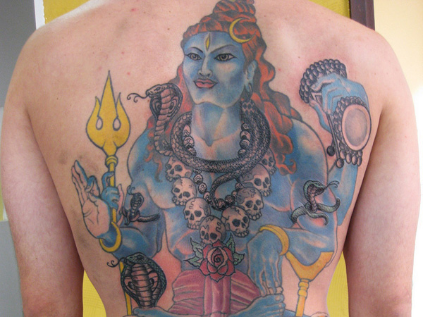 Custom Lord Shiva Tattoo On Back For Boys