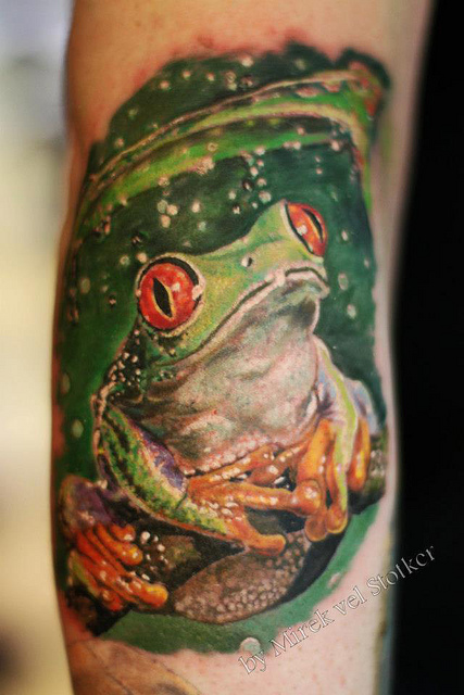 Cute Frog Tattoo For Girls Only