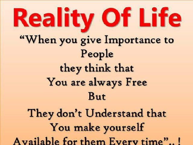 Cute Life Quotes Reality of life