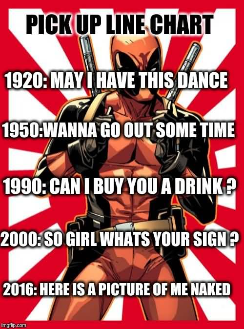 Deadpool Memes Pick Up Line Chart