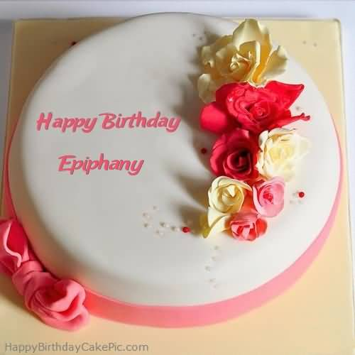 Delicious Happy Birthday Epiphany Wishes Cake Image