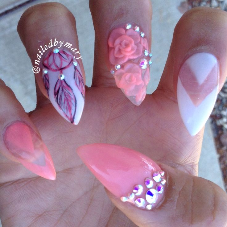 Acrylic Nail Art Rose The Best Inspiration For Design And Color Of