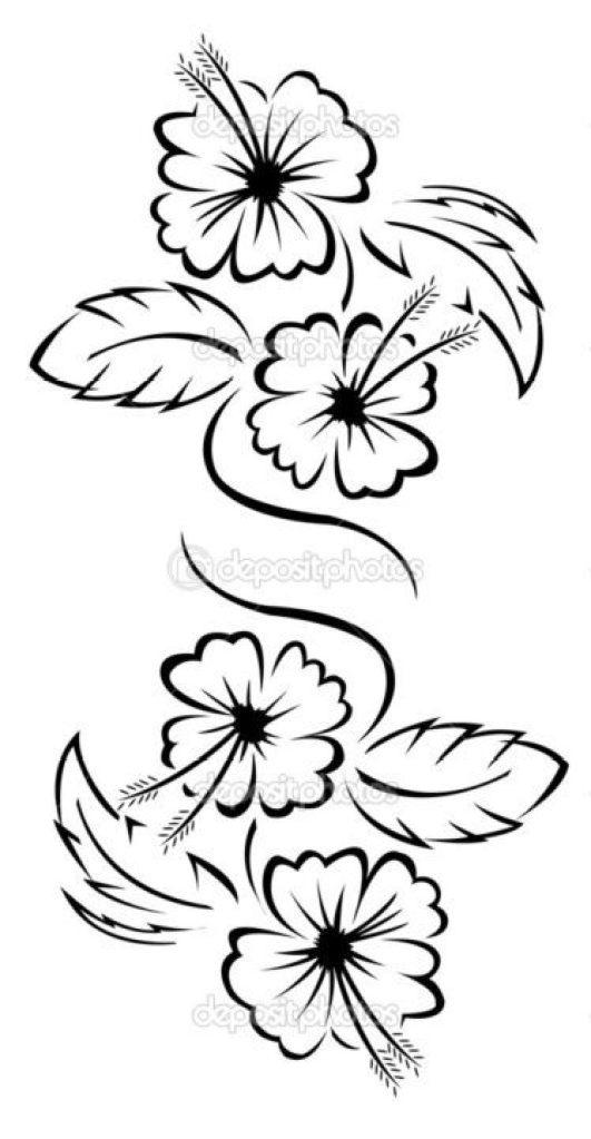 Elegant Flower Tattoo Sample For Girls