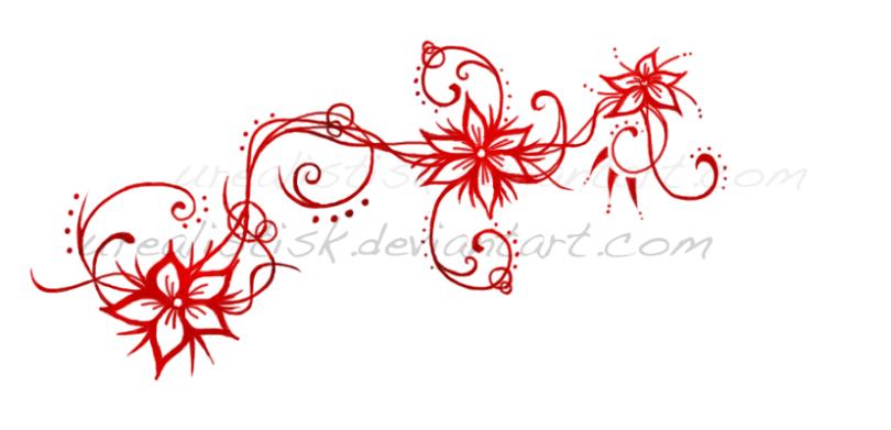 Elegant Flowers Tattoo Designs For Girls