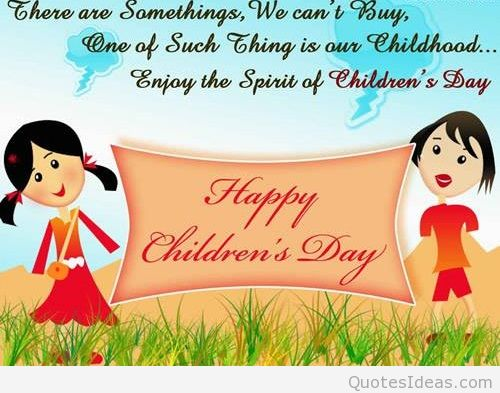 Enjoy The Spirit Of Children's Day Wishes & Greetings Image