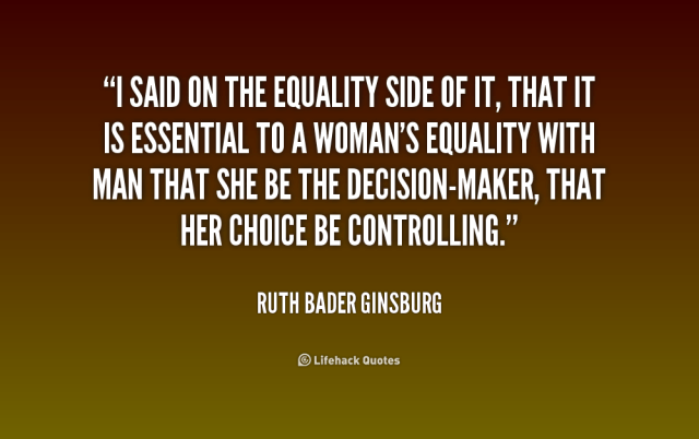 Equality Sayings is said on the equality side of it that it is essential to woman's