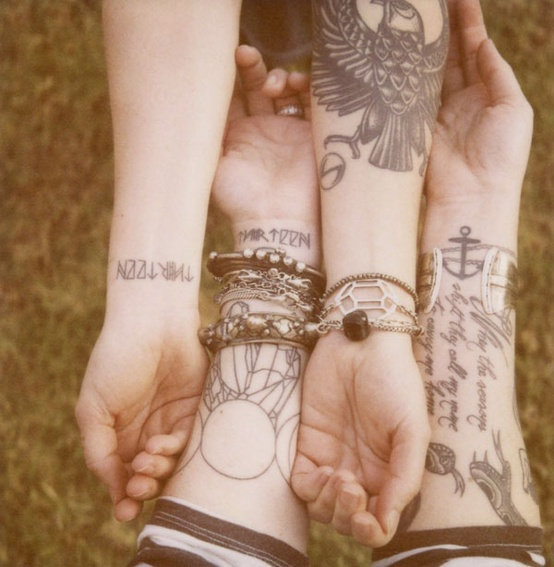 Extremely Friendship Tattoo Design On Arms For Boys
