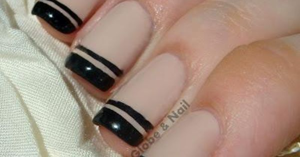 600 315 In 48 Tremendous Black French Tip Nails