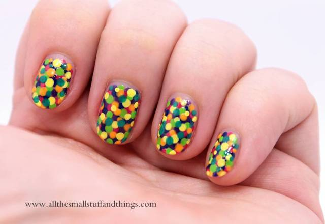 Eye Catching Colorful Birthday Nail Art