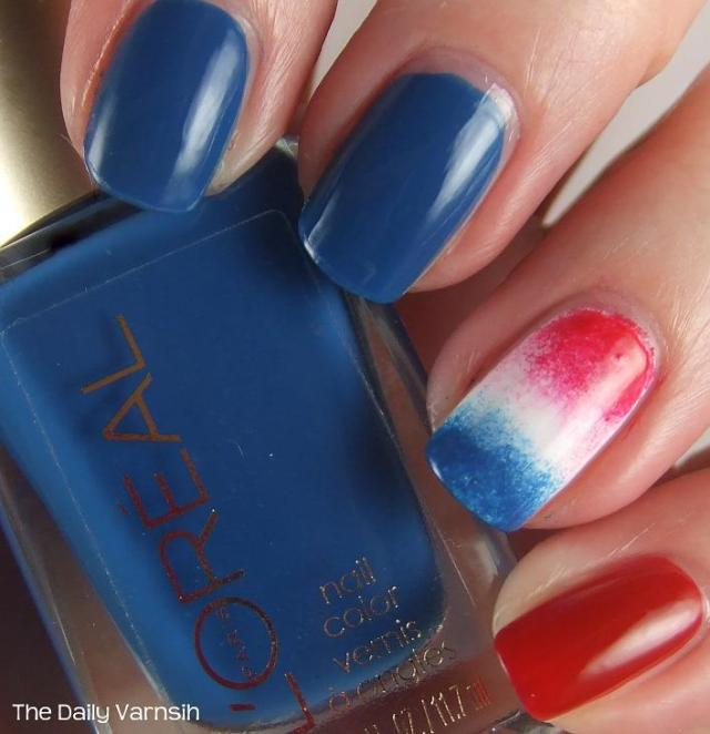 Fabulous Blue And Colorful Design Accent Nail Design