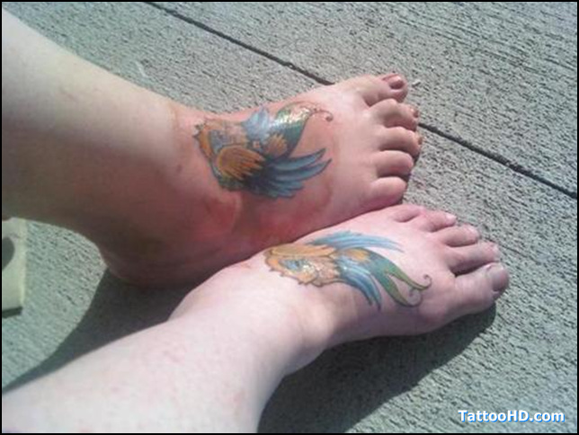 Fabulous HD Friendship Tattoo Design On Feet For Boys