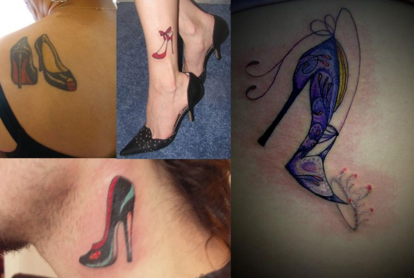 Fabulous Heel Tattoo Designs For Girls