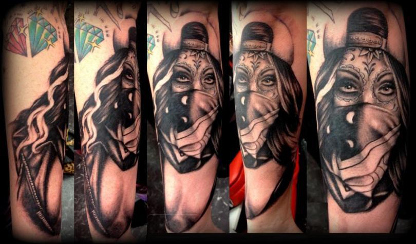 Famous Gangsta Girl Tattoo For Girls