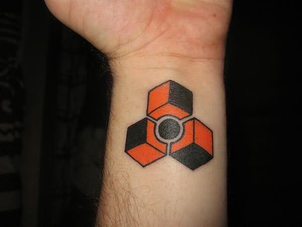 Famous Geek Tattoo On Wrist For Boys