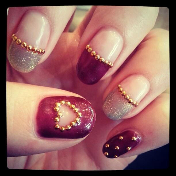 Fantastic Design With Magenta Tips 3D Nail Art