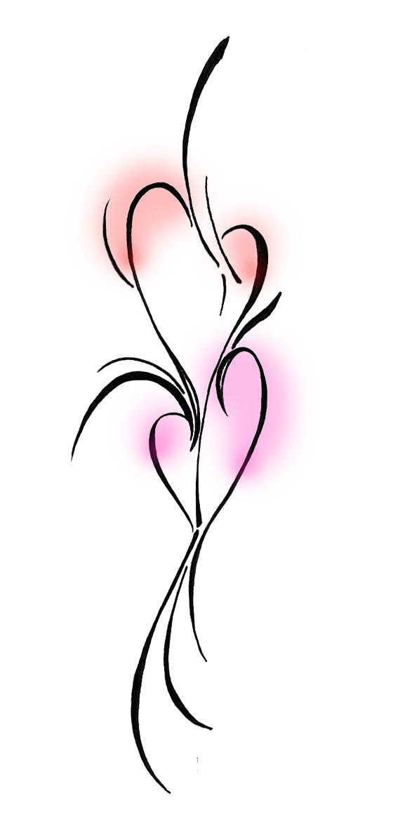 Fantastic Hearts Tattoo Sample For Boys