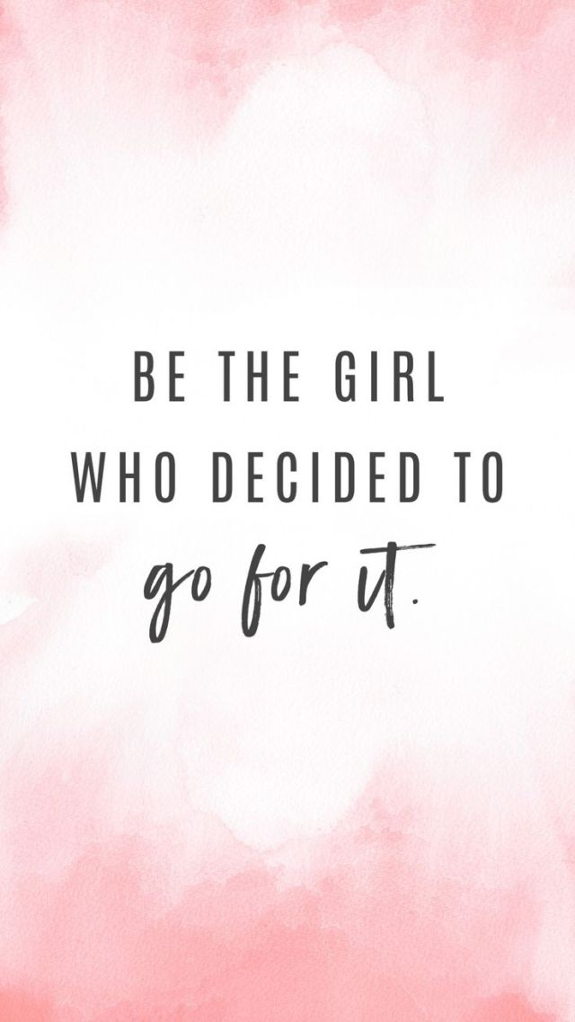 Fitness Quotes be the girl who decided to go for it