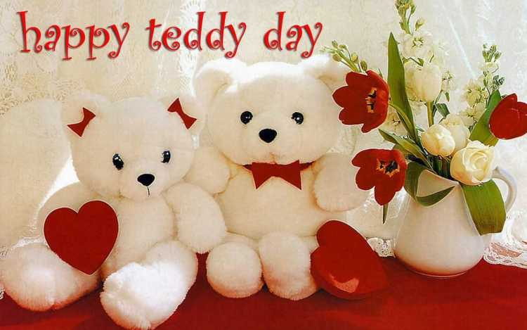 For Beautiful Girl Happy Teddy Day Wishes Image