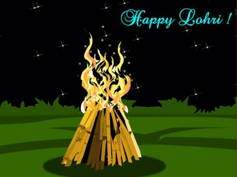 For Family Happy Lohri Greetings Image