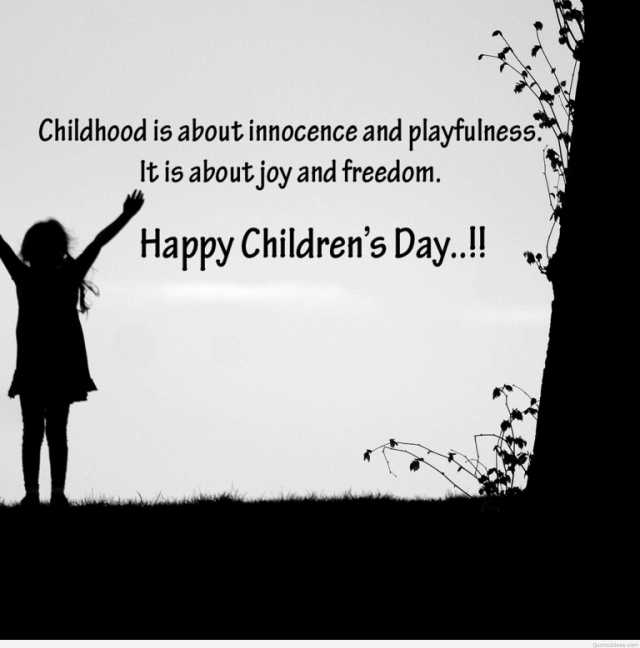 Girl Wishes Happy Children Day Image