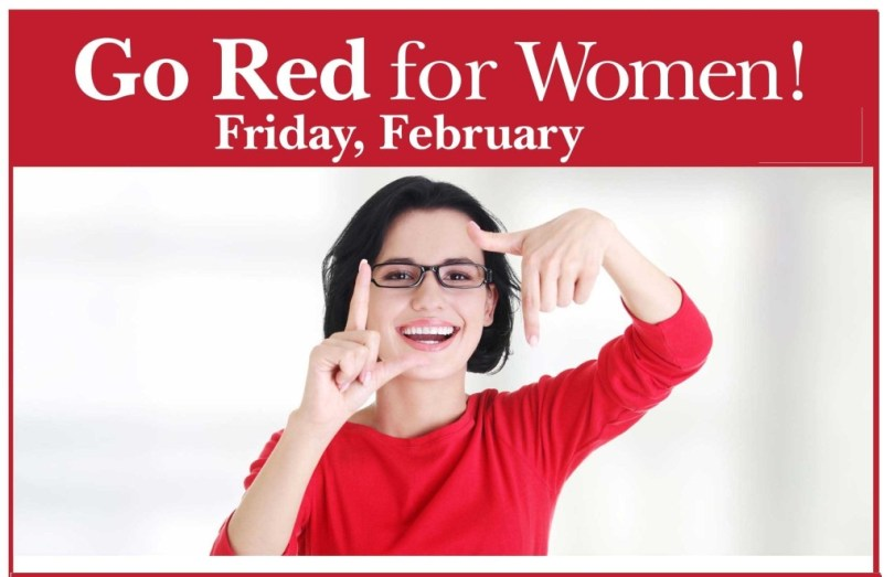 Go Red For Woman Friday National Wear Red Day