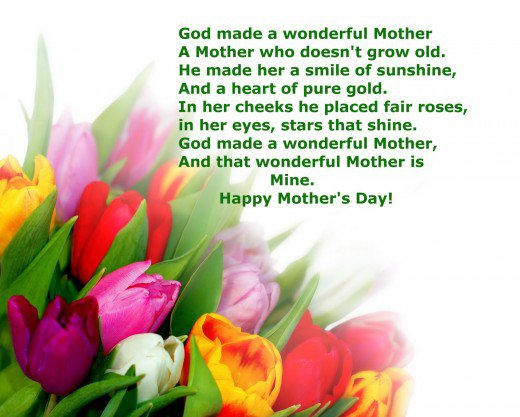God Bless You Happy Mother's Day Wishes Image