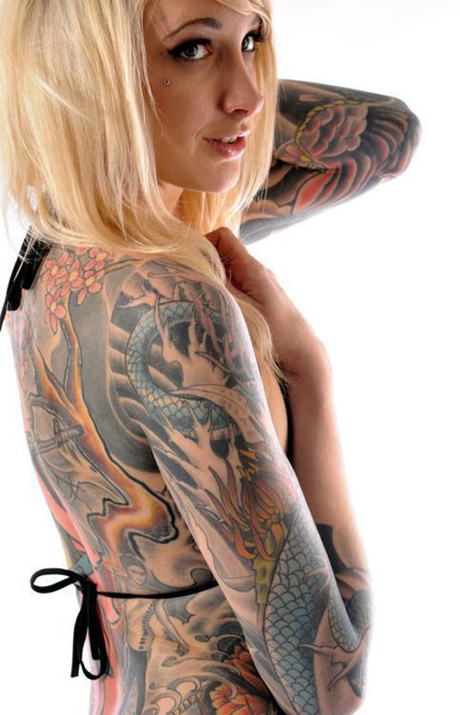 Great Extreme Tattoo Addiction For Women