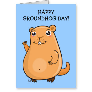 Groundhog Day Wishes Card Image