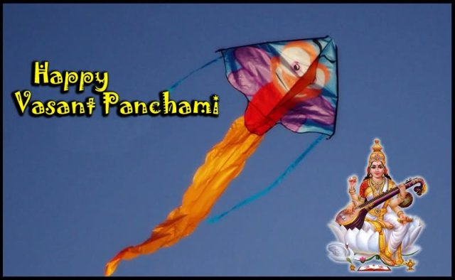 Happy Basant Panchami Kite Wishes Image