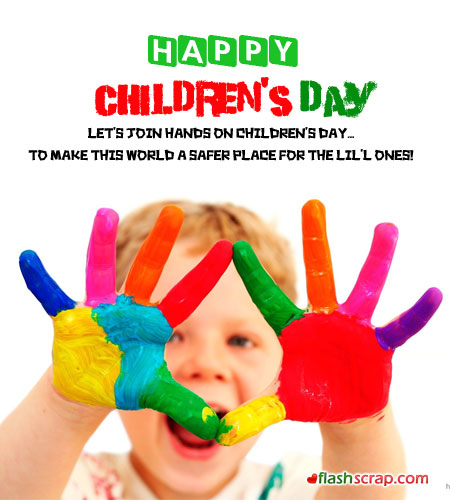 Happy Children's Day Greetings Message Image