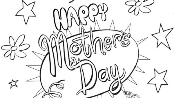 Happy Mother's Day Outline Image Cute Mother's Day Wishes