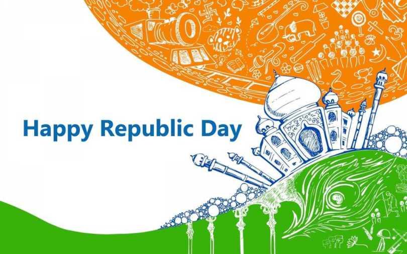 Happy Republic Day Taj Mahal Best Wallpaper