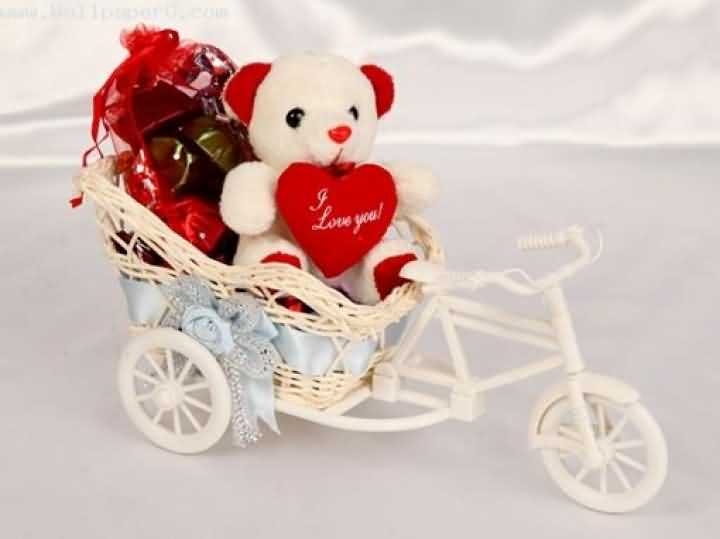 Happy Teddy Day Wishes Card Image